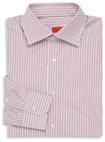 Isaia Striped Silk Dress Shirt