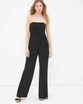 White House Black Market Convertible Black Strapless Split-Pant Jumpsuit