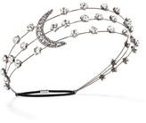 Jennifer Behr Gunmetal-plated Swarovski Crystal Headband - Silver