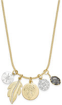 Macy's Inspired Life Two-Tone Multi-Charm Pendant Necklace
