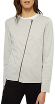 Jaeger Double Faced Jersey Jacket, Light Grey