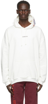 Vetements White Logo Patch Hoodie