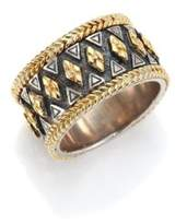 Konstantino Hebe Engraved 18K Yellow Gold & Sterling Silver Ring