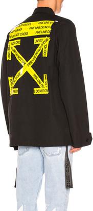 Off-White Firetape Field Jacket in Black   FWRD