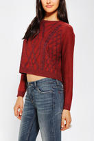 BDG Plaited-Cable Slouchy Sweater