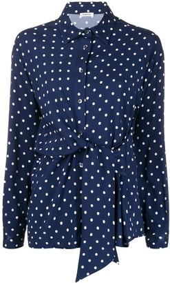 P.A.R.O.S.H. twisted polka dot shirt