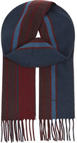Salvatore Ferragamo Two-tone Stripe Cashmere Scarf