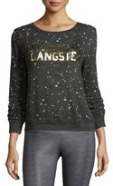 Spiritual Gangster Constellation Logo Sweatshirt, Gray