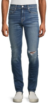 Hudson Straight-Leg Stretch Jeans