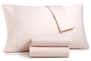 Charter Club Damask Designs Wovenblock Supima Cotton 550 Thread Count 3-Pc. Twin Sheet Set, Created for Macy's Bedding