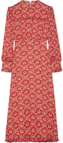 Vilshenko Miranda Floral-print Silk-georgette Dress - Red