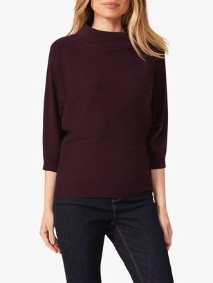 Phase Eight Cristine Turtle Neck Jumper, Blackcurrant