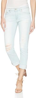 AG Jeans Women's Denim Ex-Boyfriend Raw Hem