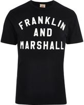 River Island Black Franklin And Marshall Print T-shirt