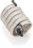 John Hardy Legends Cobra Semi-Precious Multi-Stone, Diamond & Sterling Silver Coil Bracelet