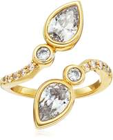 Nicole Miller Pear Crossover Ring, Size 7