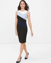 White House Black Market Sleeveless Colorblock Sheath Dress