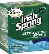 (PACK OF 25 BARS) Irish Spring MOISTURE BLAST SCENT Bar Soap for Men & Women. 12-HOUR ODOR / DEODORANT PROTECTION! For Healthy Feeling Skin. Great for Hands, Face & Body! (25 Bars, 3.75oz Each Bar)