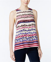 Kensie Printed Crepe Top