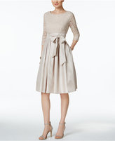 Jessica Howard Pleated Lace A-Line Dress