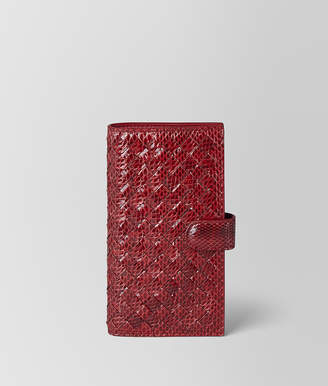 Bottega Veneta HIGH-TECH CASE IN AYERS AND INTRECCIATO NAPPA