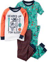 Carter's 4-Pc. Geared Up Cotton Pajama Set, Little Boys (2-7) & Big Boys (8-20)