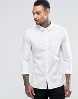 Asos Skinny Shirt With Circle Print In Long Sleeve