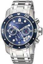 Invicta Men's 'Pro Diver' Quartz Stainless Steel Automatic Watch, Color:Silver-Toned (Model: 21921)