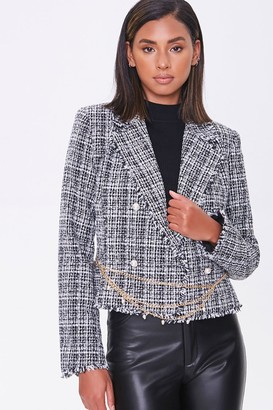 Forever 21 Double-Breasted Tweed Blazer
