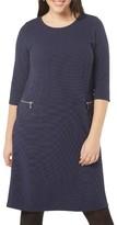 Evans Plus Size Women's Zip Pocket Textured Dress