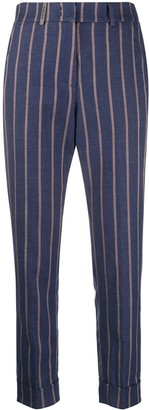 Peserico High-Waist Striped Trousers