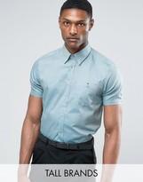 Ted Baker TALL Short Sleeve Smart Shirt in Texture