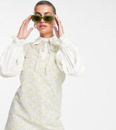 Thumbnail for your product : Lost Ink layered mini dress with collar in retro floral print