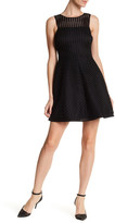 GUESS Open Knit Flare Dress
