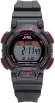 G-Shock G SHOCK Casio Solar Runner Womens Black and Pink Strap Watch STLS300H-1C
