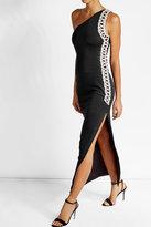 Balmain Embellished Cotton Blend Maxi Dress