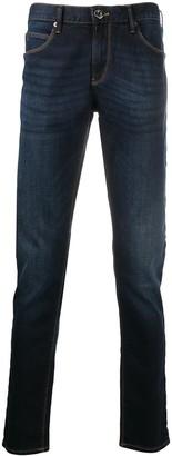 Emporio Armani Straight-Leg Dark Wash Jeans