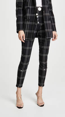 Alexander Wang High Waisted Trousers with Snap Detail