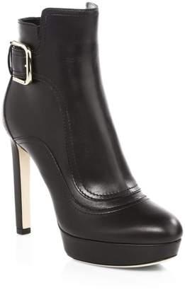 Jimmy Choo Britney Platform Leather Ankle Boots