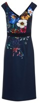 Dorothy Perkins Womens Little Mistress Navy Floral Print Wiggle Bodycon Dress