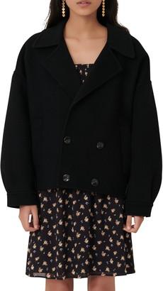 Maje Double Face Wool Blend Jacket