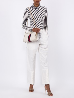 Gucci Ophidia Leather Bag White
