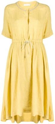 Fabiana Filippi Rhinestone Trim Midi Dress
