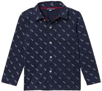 Andy & Evan Dino Print Long Sleeve Button Down Shirt