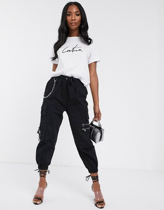 Couture The Club cargo pant in black