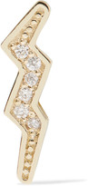 Andrea Fohrman Mini Bolt 14-karat Gold Diamond Earring - one size