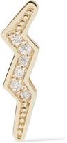 Andrea Fohrman Mini Bolt 14-karat Gold Diamond Earring - one size