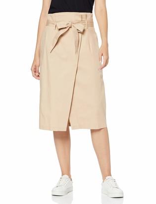 Meraki Amazon Brand Women's Cotton Midi Skirt
