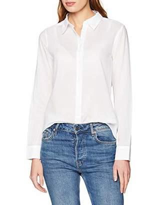 Benetton Women's Camicia Cotone Basica Non Elasticizzata Regular Casual Shirt,Large