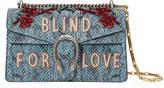 Gucci Dionysus embroidered snakeskin shoulder bag